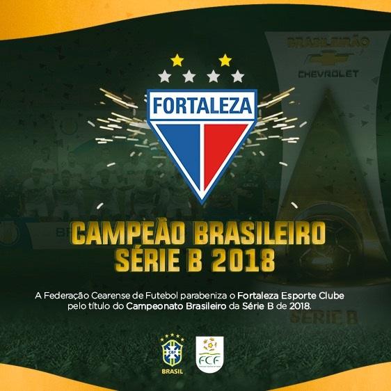 Fortaleza E Campeao Do Brasileiro Serie B