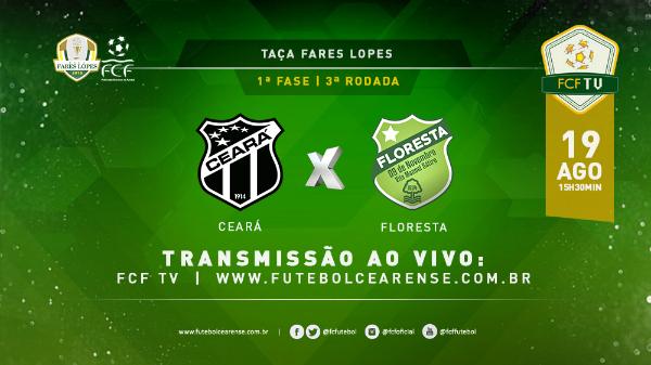 Ceará x Floresta terá transmissão ao vivo da FCF TV 32973636fb970